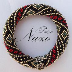Beaded bracelet - Beaded Crochet Bracelet. $35.00, via Etsy.