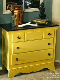 yellow painted furniture