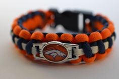 Paracord Armband Denver Broncos. Hier mein erstes Paracord Armband der Denver Broncos #lanasparacords #paracord #armband