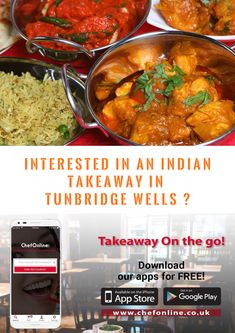 If you're interested in an Indian Takeaways Near Tunbridge Wells. Finding some delicious local Indian food is as simple. Place your order with ChefOnline & you'll be enjoying a gourmet Indian takeaway feast at home. Indian Food Recipes, Ethnic Recipes, Tunbridge Wells, Inverness, Chana Masala, Curry, Wellness, Beef, Restaurant