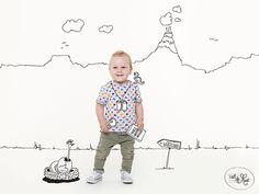 Kinderfoto's met illustratie door uitdemaat.nl