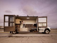 You need to look beyond the fact that its a pizza shop and think about, with a slight modification, how it could become the perfect vehicle for a mobile 'pop up shop'.