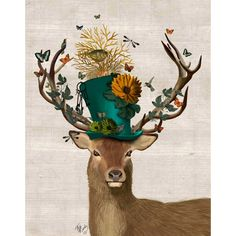 Equal parts woodland and whimsical, this charming canvas print looks great hanging in your entryway or master suite.Product: Canv...