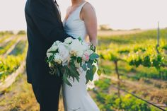 Elegantly Styled Winery Wedding on Borrowed & Blue.  Photo Credit: Lindsey Gomes Photography Bouquet by Noonan's Designs