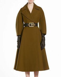 Wool Silk Oversized Coat by Gucci at Bergdorf Goodman.