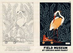 ".	    ""Field Museum"" by Chicago Rapid Transit    	    Roy Thompson, for the Research Class American Academy of Art Chicago"