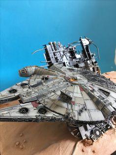 Faucon millenium et tie fighter Star Wars VII Maquette Star Wars, Millennium Falcon Model, Star View, Star Wars Vii, Star Wars Vehicles, Sci Fi Models, Star Wars Models, Model Hobbies, Tie Fighter