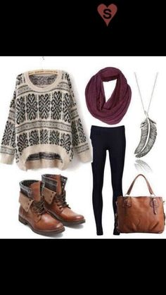 super cute and casual warm outfit!