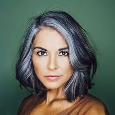 on second head shot reveal . If youre one of the original few hundred ers I have who know me in real life or have ed me for Pelo Color Plata, Grey Hair Transformation, Medium Hair Styles, Short Hair Styles, Gray Hair Highlights, Grey Hair Inspiration, Long Gray Hair, Silver Grey Hair Gray Hairstyles, Gray Hair Women