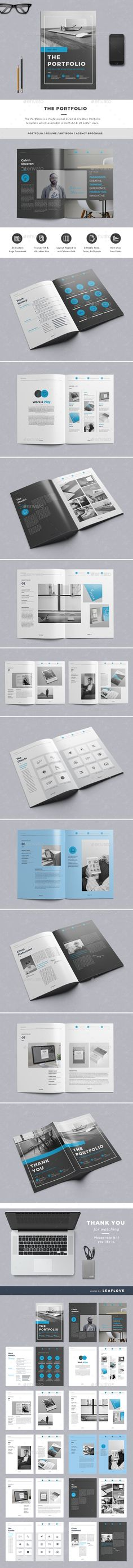 The Portfolio Brochure Template InDesign INDD #design Download: http://graphicriver.net/item/the-portfolio/14347470?ref=ksioks