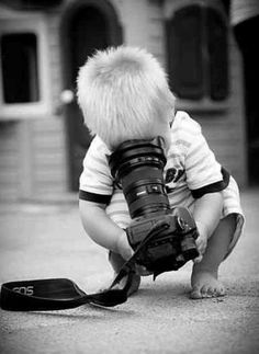 XO  An early interest in photography...don't laugh...he may be the next Mario Testino :)