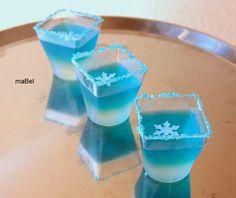 Gelatina transparente en degrade - Hielo - Frozen ~ Pasteles de colores