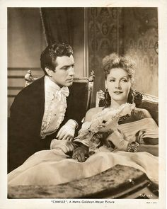 "Greta Garbo with  Robert Taylor  in  film ""Camille"""