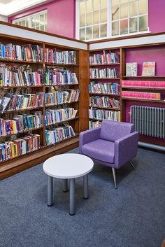 Mad Men styled chairs bring a retro twist to the heritage library
