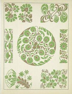 Art Deco Vignettes - Henri Gillet 1922 l Textures Patterns, Print Patterns, Design Art Nouveau, Web Gallery Of Art, 1920s Art, Freedom Design, Diy Embroidery, Illuminated Manuscript, Surface Pattern Design
