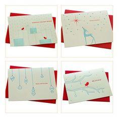 Deluce Designs Letterpress Holiday Cards
