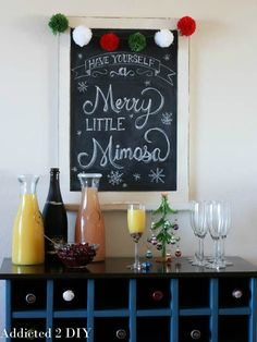 Making a mimosa bar for Christmas is simple and affordable. You're sure to impress your guests with these inexpensive supplies and ingredients!