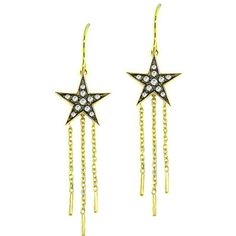 London Road Jewellery Portobello Yellow Gold Starry Night Drop Earrings 0BmazXeHG