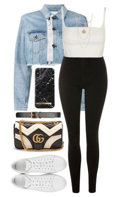 """Untitled #390"" by naomiariel ❤ liked on Polyvore featuring Off-White, Topshop, Gucci, Yves Saint Laurent and Forever 21"