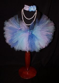 Lavender Periwinkle and Light Blue Girls Tutu by HarperRaeDesigns, $18.00