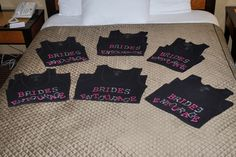 Shirts for bachelorette party and a white one for the bride to be...