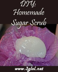 DIY: Body Sugar Scrub. Why spend lots of money on store bought brand body scrubs when you can make your own and it's better than most you can buy!! http://www.3glol.net