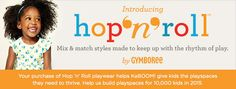 Children's retailer Gymboree has launched a new clothing line called Hop 'n' Roll with the help of a cause marketing campaign. One percent of the price of each Hop 'n' Roll product sold (up to $50,000) until May 31, 2015 will be donated to nonprofit KaBOOM!