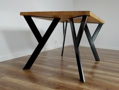 Metal Table Legs also for Round Tables. Steel Table Legs for reclaimed Wood. Iron Table Legs Sturdy Steel Dining Table Legs also for Round Tables. Steel Dining Table, Steel Table Legs, Dining Table Legs, Wood Table, Simple Dining Table, Kitchen Tables, Modern Table, Metal Furniture Legs, Steel Furniture