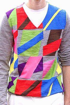 patternprints journal: PRINTS, PATTERNS AND DETAILS FROM RECENT PARIS FASHION WEEK (MENSWEAR SPRING/SUMMER 2015) /  Comme des Garçons Shirt