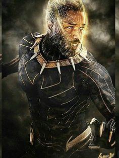 Erik Killmonger as The Golden Jaguar Black Panther Movie 2018, Black Panther Art, Black Panther Marvel, Black Art, Hq Marvel, Marvel Films, Marvel Dc Comics, Marvel Heroes, Andre Luis