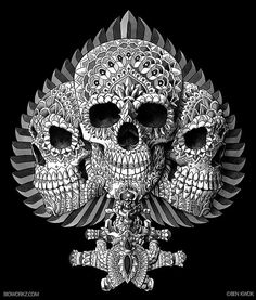 @BioWorkz and his beautilfully #illustrated #Skulls http://skullappreciationsociety.com/bioworkz-skullz/ via @skull_society