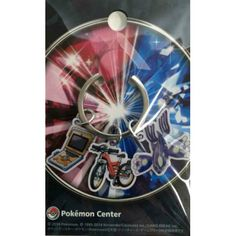Pokemon Center 2014 Primal Kyogre Acro Bike Pokenav Charm Keychain