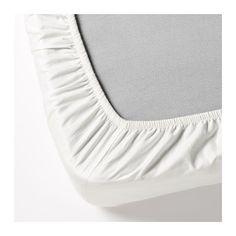 DVALA Prześcieradło z gumką IKEA Gęsto tkana pościel z dobrej jakościowo przędzy jest wyjątkowo miękka i trwała.