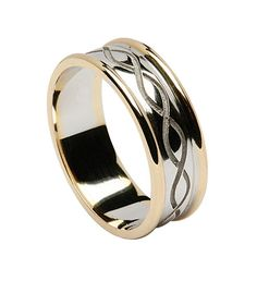 Cute Unique wedding rings and mitment rings Men us four band puzzle ring in heavy weight shown in K rose gold and palladium Pinterest Puzzle ring