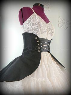 Peplum Black Peplum Cincher Skirt Black by TrappedInTimeDesigns, $65.00