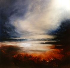 """Large Abstract Oil Painting by Simon Kenny """"Escape""""                                                                                                                                                                                 More"""