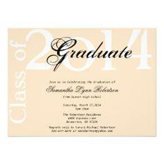 Cute Elegant Light Pink 2014 Graduation Invitation
