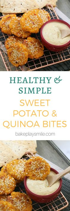Healthy Snacks For Kids Sweet Potato Quinoa Bites. - Deliciously healthy Sweet Potato Quinoa Bites oven baked to perfection! The perfect snack or meal for toddlers and children. Baby Food Recipes, Cooking Recipes, Cooking Ribs, Cooking Games, Cooking Classes, Sweet Potato Toddler Recipes, Healthy Recipes For Toddlers, Recipes Dinner, Kid Lunches