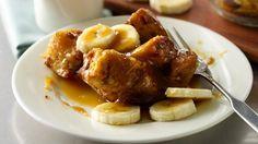 Bananas Foster Cinnamon Rolls Bread Pudding