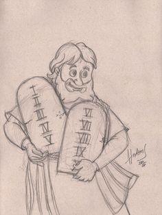 Moisés e as tábuas - E deu a Moisés (quando acabou de falar com ele no monte Sinai) as duas tábuas do testemunho, tábuas de pedra, escritas pelo dedo de Deus. Êxodo 31:18