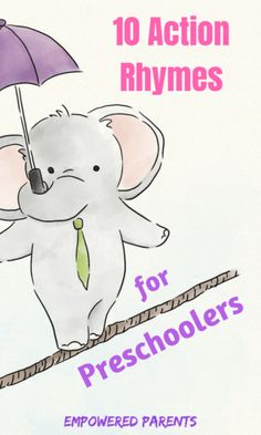 Action rhymes are great for developing your child's gross-motor skills as well as their listening and speaking skills. Your child will love these 10 popular action rhymes. - Kids education and learning acts Preschool Action Songs, Kindergarten Songs, Preschool Learning, Toddler Preschool, Preschool Activities, Teaching Kids, Action Songs For Kids, Kindergarten Readiness, Action Songs For Preschoolers