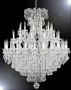 Maria Theresa Large Entryway Foyer Chandelier Crystal Chandeliers Lighting 52x60 #Gallery