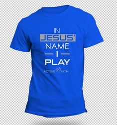Youth Boys In Jesus' Name I Play Performance Shirt - Active Faith Sports
