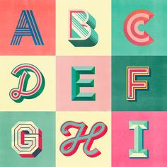 Desigual - #36daysoftype — Sergi Delgado | Art & Design Miami Art Deco, Typography Alphabet, Cool Typography, Fuente Art Deco, Miami Beach, Art Deco Font, 36 Days Of Type, Kids Rugs, Graphic Design