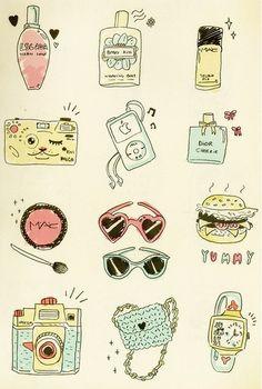 #makeup #ipod #things #illustration