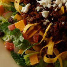 Guy Fieri's Warm Taco Salad with Spicy, Smoky Ranch Recipe