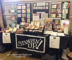 www.mayrastamps.blogspot.com -My display at a Fall Vendor Fair (craft fair).  I did an easy table set up to display my craft fair goodies.
