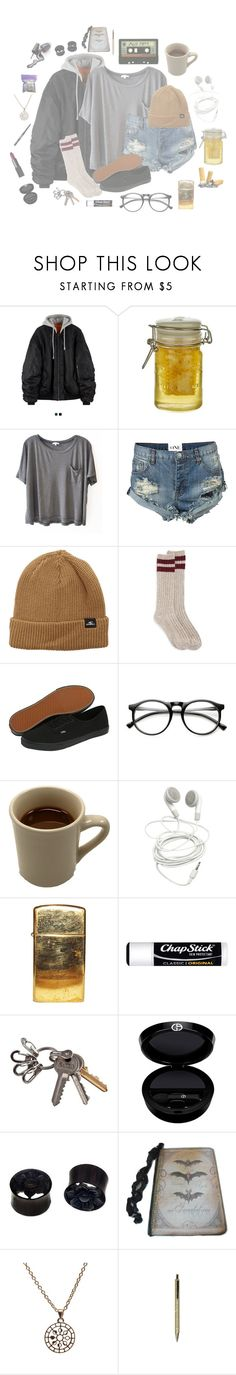 """moose blood ~ honey"" by shxrk-dxddy ❤ liked on Polyvore featuring Cartwright & Butler, Clu, OneTeaspoon, O'Neill, Vans, INDIE HAIR, ZeroUV, Market, Chapstick and NARS Cosmetics"