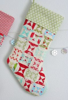 Lined Stocking Tutorial. I used this while making Christmas stockings this year and, boy, was the time worth it! They look so professional!