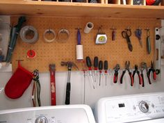 laundry room--my only criticism is, what a pain if one of the tools falls behind one of the machines!  It could happen.